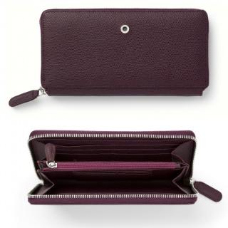Skórzany portfel damski marki Graf von Faber-Castell z kolekcji Epsom, kolor Violet Blue, Portfele, Akcesoria osobiste