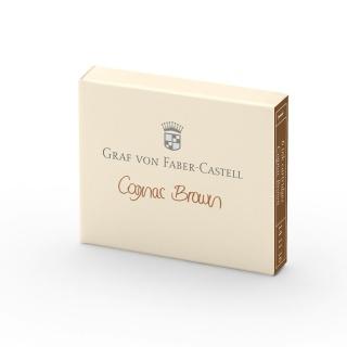 Naboje atramentowe marki Graf von Faber-Castell kolor Cognac Brown, Atramenty, wkłady i naboje, Artykuły do pisania i korygowania