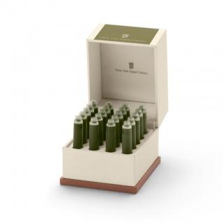 Naboje atramentowe marki Graf von Faber-Castell, kolor Olive Green, Atramenty, wkłady i naboje, Artykuły do pisania i korygowania