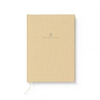Notes w lnianej oprawie marki Graf von Faber-Castell, kolor Golden Brown, format A5, Notatniki, Papier i galanteria papiernicza