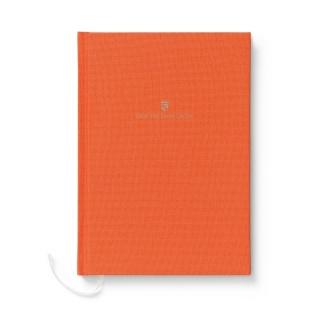 Notes w lnianej oprawie marki Graf von Faber-Castell, kolor Orange, format A4, Notatniki, Papier i galanteria papiernicza