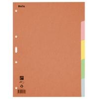 Przekładki kartonowe, A4, 1-5 kart., mix kolorów, Przekładki kartonowe, Archiwizacja dokumentów