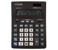 Kalkulator biurowy CITIZEN CDB1201-BK Business Line, 12-cyfrowy, 205x155mm, czarny, Kalkulatory, Urządzenia i maszyny biurowe