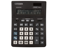 Kalkulator biurowy CITIZEN CDB1401-BK Business Line, 14-cyfrowy, 205x155mm, czarny, Kalkulatory, Urządzenia i maszyny biurowe