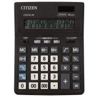 Kalkulator biurowy CITIZEN CDB1601-BK Business Line, 16-cyfrowy, 205x155mm, czarny, Kalkulatory, Urządzenia i maszyny biurowe