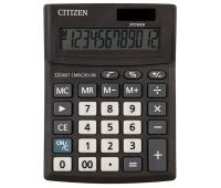 Kalkulator biurowy CITIZEN CMB1201-BK Business Line, 12-cyfrowy, 137x102mm, czarny, Kalkulatory, Urządzenia i maszyny biurowe