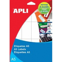 Etykiety uniwersalne APLI, 49x100mm, zaokrąglone, białe 17 ark., Etykiety samoprzylepne, Papier i etykiety