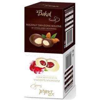 Migdały i żurawina w czekoladzie BAKAL Sweet Dla Dwojga, 100g, Przekąski, Artykuły spożywcze