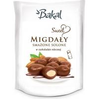 Migdały smażone solone w czekoladzie BAKAL Sweet, 80g, Przekąski, Artykuły spożywcze