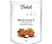 Migdały w czekoloadzie z cynamonem BAKAL Sweet, 80g, Przekąski, Artykuły spożywcze