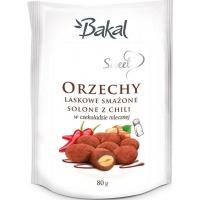 Orzechy laskowe w czekoladzie z chili BAKAL Sweet, 80g, Przekąski, Artykuły spożywcze