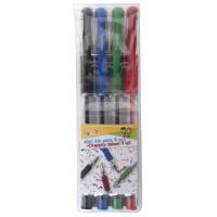 Długopis żelowy GIMBOO Classic, 0,5mm, 4 szt., zawieszka, mix kolorów, Żelopisy, Artykuły do pisania i korygowania