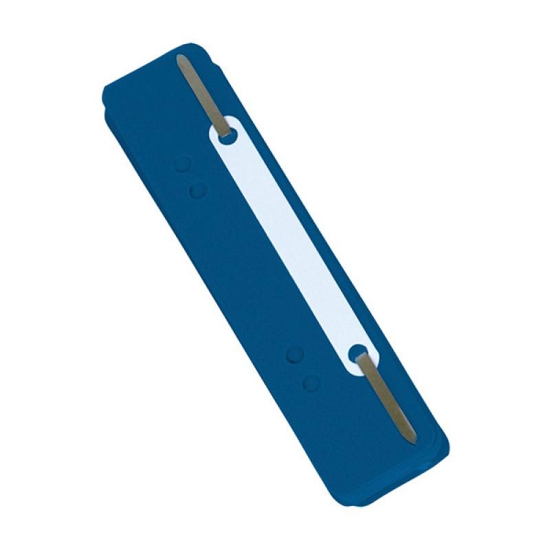 Wąsy skoroszytowe DONAU, PP, z metalową blaszką, 25szt., niebieskie, Wąsy, Archiwizacja dokumentów