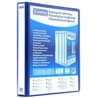 Segregator ofertowy DONAU, PP, A4/4RD/30, niebieski, Segregatory ringowe, Archiwizacja dokumentów