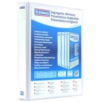 Segregator ofertowy DONAU, PP, A4/4RD/65, biały, Segregatory ringowe, Archiwizacja dokumentów