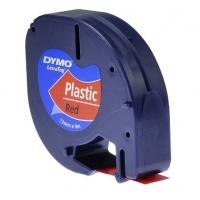 Taśma DYMO LetraTag plastikowa 12mm x 4m czerwona 59424 S0721580, Drukarki do etykiet, Urządzenia i maszyny biurowe
