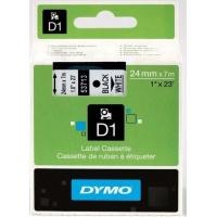 Taśma D1 - 24 mm x 7 m, czarny / biały 53713/S0720930, Drukarki do etykiet, Urządzenia i maszyny biurowe