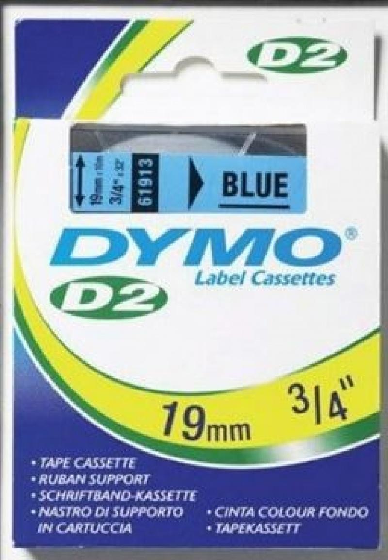 Taśma Dymo D2 19*10 niebieska S0721170/61913, Drukarki do etykiet, Urządzenia i maszyny biurowe