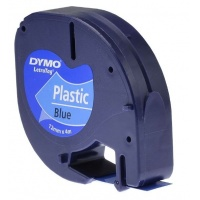 Taśma plastikowa DYMO LetraTag 12mm x 4m niebieska S072160/59426, Drukarki do etykiet, Urządzenia i maszyny biurowe