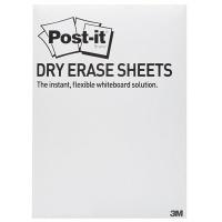 Suchościeralna folia w arkuszach POST-IT® Dry Erase (DEFPACKL-EU), 28x39cm, 15ark., białe, Folia suchościeralna, Prezentacja