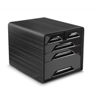 Zestaw 5 szufladek CEP Smoove, czarny, Szufladki - zestawy, Drobne akcesoria biurowe