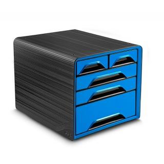 Zestaw 5 szufladek CEP Smoove, czarny/niebieski, Szufladki - zestawy, Drobne akcesoria biurowe