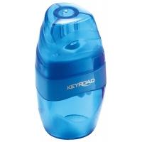 Temperówka KEYROAD Easy Go, plastikowa, pojedyńcza, z pojemnikiem, pakowane na displayu, mix kolorów, Temperówki, Artykuły do pisania i korygowania
