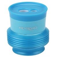 Temperówka KEYROAD Stretchy, plastikowa, podwójna, z pojemnikiem, display, mix kolrów, Temperówki, Artykuły do pisania i korygowania