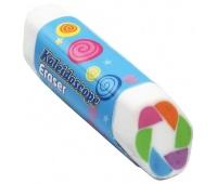 Gumka uniwersalna KEYROAD Kaleidoscope, heksagonalna, display, mix kolorów, Plastyka, Artykuły szkolne