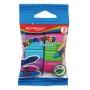 Gumka uniwersalna KEYROAD Elastic Touch, 2szt., blister, mix kolorów
