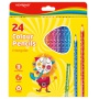 Kredki ołówkowe KEYROAD, trójkątne, 24szt., mix kolorów, Plastyka, Artykuły szkolne