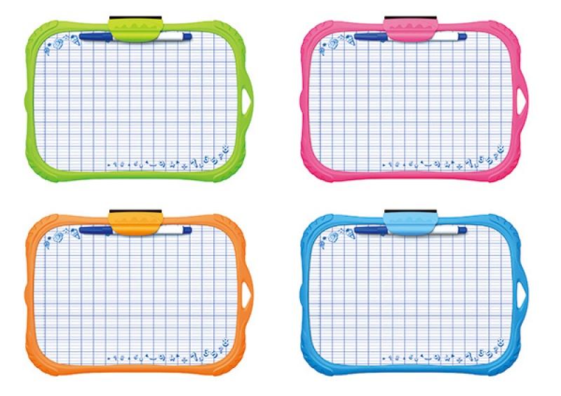 Tablica suchościerlana KEYROAD Mini, dla dzieci, z markerem, A4, mix kolorów, Plastyka, Artykuły szkolne