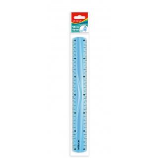 Linijka KEYROAD, 30cm, elastyczna, zawieszka, mix kolorów, Linijki, ekierki, kątomierze, Artykuły do pisania i korygowania