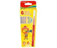 Flamastry KEYROAD Fiber Marker, 6szt., na zawieszce, mix kolorów, Plastyka, Artykuły szkolne