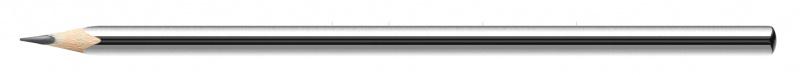 Ołówek drewniany KEYROAD, HB, trójkątny, display, szary, Ołówki, Artykuły do pisania i korygowania