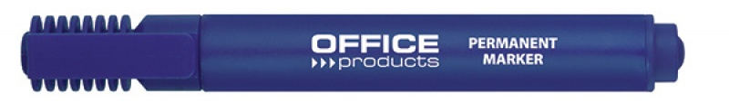 Marker permanentny OFFICE PRODUCTS, ścięty, 1-5mm (linia), niebieski, Markery, Artykuły do pisania i korygowania