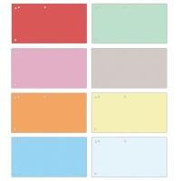 Przekładki OFFICE PRODUCTS, karton, 1/3 A4, 240x105mm, 100szt., mix kolorów