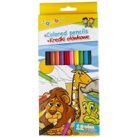 Kredki ołówkowe GIMBOO, sześciokątne, 12szt., mix kolorów, Plastyka, Artykuły szkolne