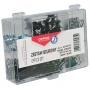 Zestaw biurowy (pinezki, klipy i spinacze) OFFICE PRODUCTS, mix 153szt., czarny, Zestawy, Drobne akcesoria biurowe