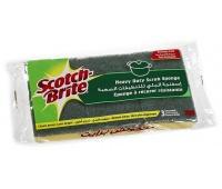 Gąbka do zmywania SCOTCH BRITE, uniwersalna, do garnków i patelni, 3szt., zielona, Akcesoria do sprzątania, Artykuły higieniczne i dozowniki