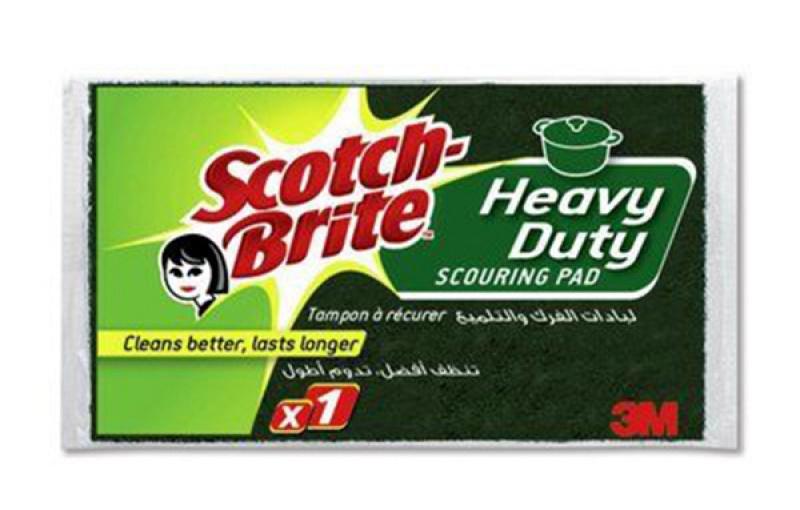 Gąbka do zmywania SCOTCH BRITE, uniwersalna, do szorowania, żółta, Akcesoria do sprzątania, Artykuły higieniczne i dozowniki