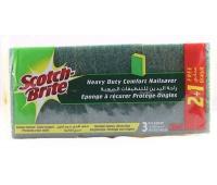 Gąbka do zmywania SCOTCH BRITE, uniwersalna, do garnków i patelni, 2+1szt., żółta, Akcesoria do sprzątania, Artykuły higieniczne i dozowniki