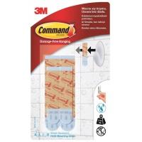 Paski wymienne Command™ (BATH-22), wodoodporne, transparentne, Haczyki, Prezentacja