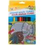 Kredki ołówkowe GIMBOO Jumbo, sześciokątne, 12szt., mix kolorów