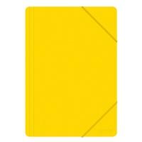 Teczka z gumką OFFICE PRODUCTS, A4, PP, 500mikr., 3-skrz., żółta, Teczki płaskie, Archiwizacja dokumentów