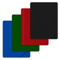 Teczka z gumką OFFICE PRODUCTS, A4, PP, 500mikr., 3-skrz., mix kolorów, Teczki płaskie, Archiwizacja dokumentów