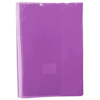Okładka na zeszyt GIMBOO, krystaliczna, A5, 150mikr., fioletowa, Okładki, Artykuły szkolne
