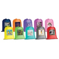 Worek szkolny GIMBOO, z nadrukiem, mix kolorów, Worki, Artykuły szkolne
