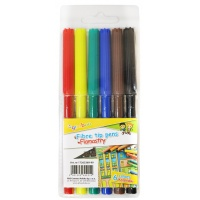 Flamastry GIMBOO, 6szt. na zawieszce, mix kolorów, Plastyka, Artykuły szkolne