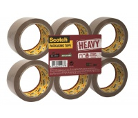 Scotch® Packaging Tape Heavy, Brown, 1 Roll, 50 mm x 66 m
